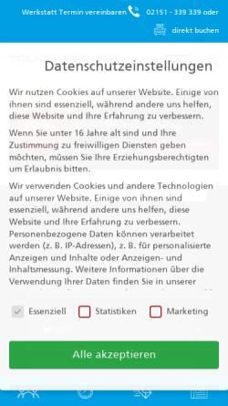 Vorschau der mobilen Webseite www.toefi.de, Tölke und Fischer GmbH & Co.KG.