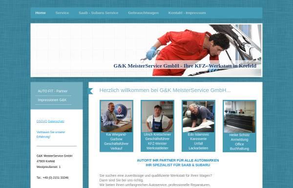 Vorschau von www.gk-meisterservice.de, Saab-Zentrum-Krefeld