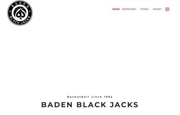 Vorschau von www.blackjacks.at, Baden Black Jacks
