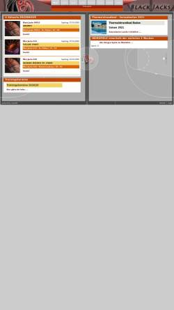 Vorschau der mobilen Webseite www.blackjacks.at, Baden Black Jacks