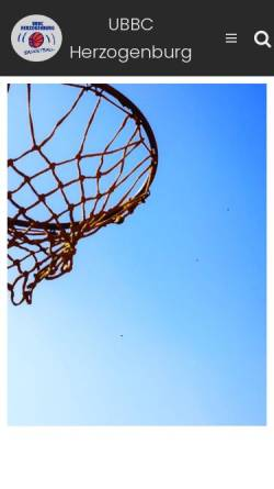 Vorschau der mobilen Webseite www.ubbc-herzogenburg.at, UBBC Herzogenburg
