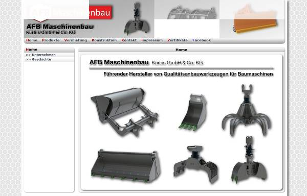 Vorschau von www.afb-maschinenbau.de, AFB Kürbis Maschinenbau GmbH & Co