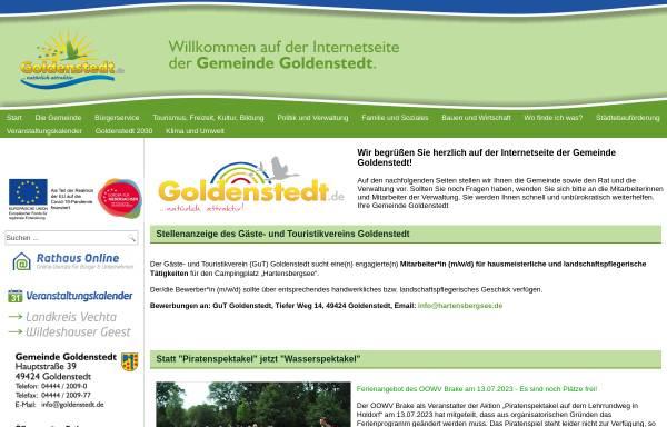 Vorschau von www.goldenstedt.de, Gemeinde Goldenstedt