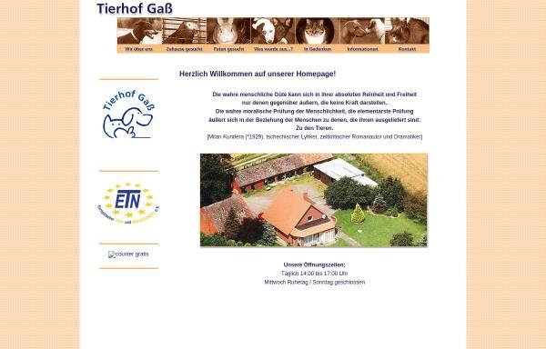 Vorschau von www.tierhof-gass.de, Tierhof Gaß