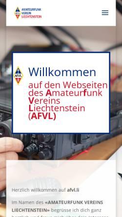 Vorschau der mobilen Webseite afvl.li, Amateurfunk-Verein Liechtenstein