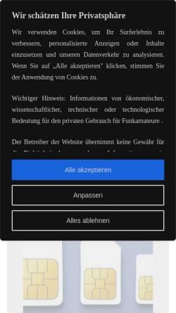 Vorschau der mobilen Webseite dd1go.de, DD1GO