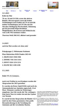 Vorschau der mobilen Webseite www.df0yy.de, DF0YY