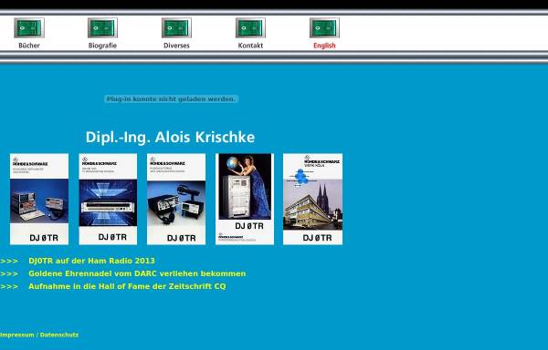 Vorschau von www.dj0tr.de, DJ0TR, OE8AK