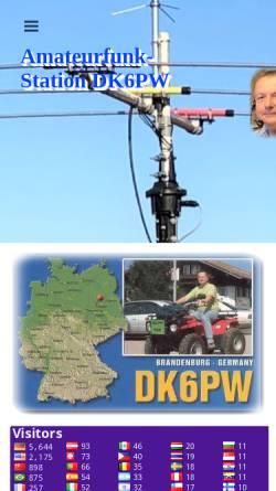 Vorschau der mobilen Webseite www.wasie.de, DK6PW