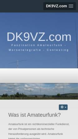 Vorschau der mobilen Webseite dk9vz.com, DK9VZ