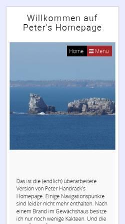 Vorschau der mobilen Webseite www.handrack.net, DM3XRF