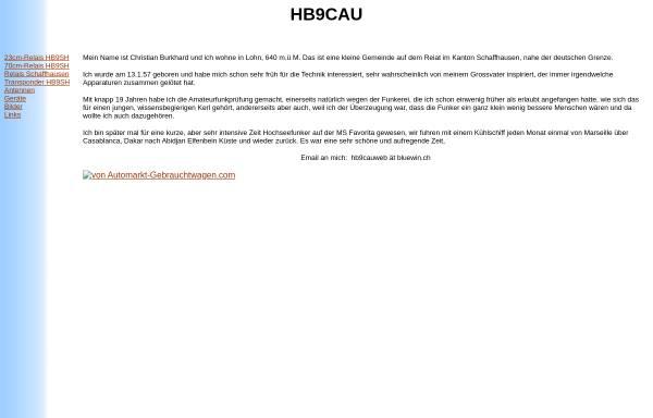 Vorschau von www.qslnet.de, HB9MPU, HB9CAU