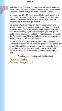 Vorschau der mobilen Webseite www.qslnet.de, HB9MPU, HB9CAU