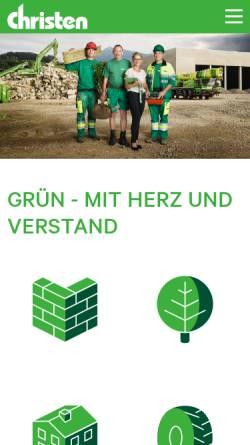 Vorschau der mobilen Webseite www.christen-ag.ch, Christen AG Bauunternehmung
