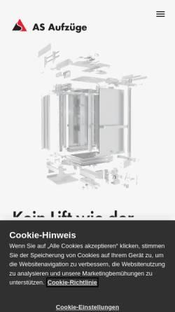 Vorschau der mobilen Webseite www.henseler.ch, Henseler Aufzüge