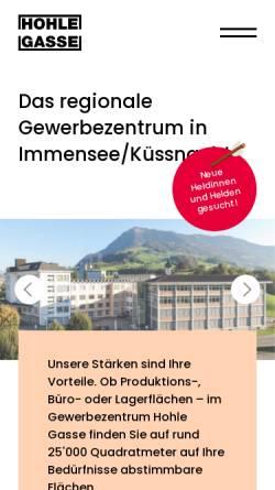 Vorschau der mobilen Webseite www.hohle-gasse.ch, Hohle Gasse AG