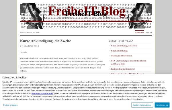 Vorschau von freiheitblog.wordpress.com, Freiheit-Blog