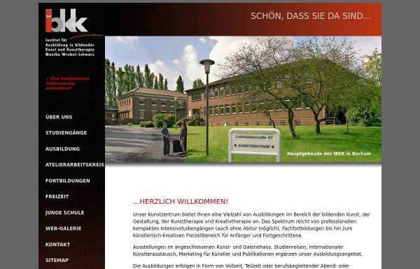 Vorschau von www.ibkk-kunstzentrum.de, Institut für Ausbildung in bildender Kunst und Kunsttherapie (IBKK)