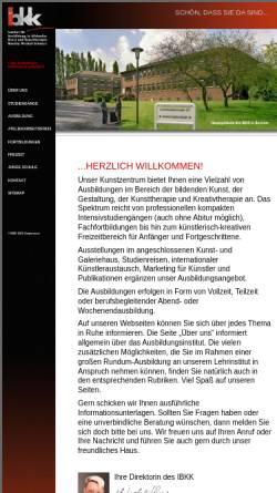 Vorschau der mobilen Webseite www.ibkk-kunstzentrum.de, Institut für Ausbildung in bildender Kunst und Kunsttherapie (IBKK)