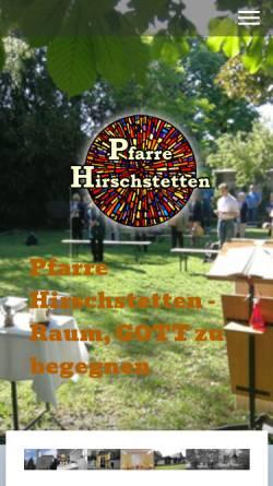 Vorschau der mobilen Webseite www.pfarre-hirschstetten.at, Hirschstetten