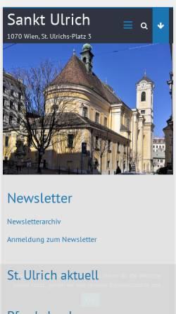Vorschau der mobilen Webseite stulrich.com, 7., Pfarre St. Ulrich