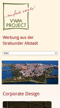 Vorschau der mobilen Webseite www.vwm-project.de, VWM Project Verlags-, Werbe- und Marketing GmbH