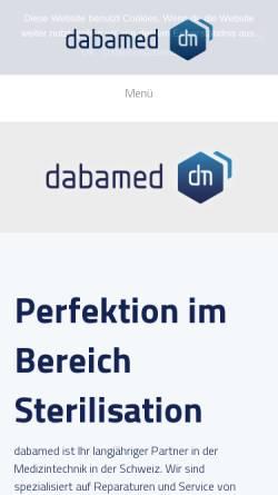 Vorschau der mobilen Webseite www.dabamed.ch, Daba-Med Medizintechnik
