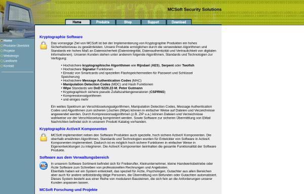 Vorschau von www.mcsoft.at, MCSoft