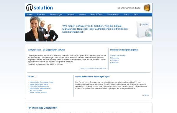 Vorschau von www.itsolution.at, IT Solution GmbH