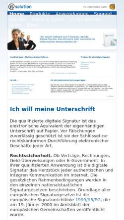 Vorschau der mobilen Webseite www.itsolution.at, IT Solution GmbH