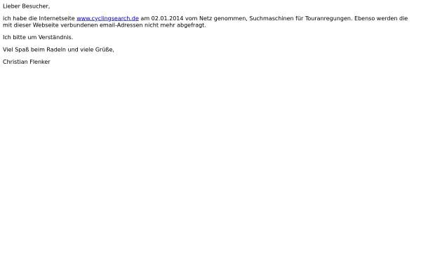 Vorschau von www.cyclingsearch.de, Cyclingsearch