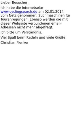 Vorschau der mobilen Webseite www.cyclingsearch.de, Cyclingsearch