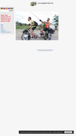 Vorschau der mobilen Webseite www.globetreter.de, Globetreter