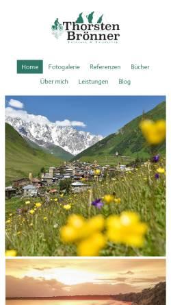 Vorschau der mobilen Webseite www.thorstenbroenner.de, Radreisen und Landschaftsfotografie
