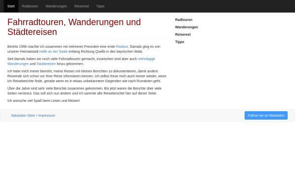 Vorschau von fahrradtour-wandern-reisen.hpfsc.de, Sebastian Stein