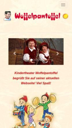 Vorschau der mobilen Webseite www.woffel.de, Berlin, Kinderliedtheater Woffelpantoffel