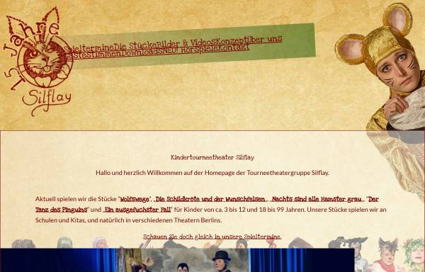 Vorschau von www.silflay.de, Berlin, Kindertourneetheaters Silflay