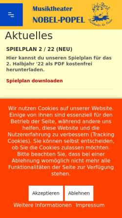 Vorschau der mobilen Webseite www.nobel-popel.de, Berlin, Nobel-Popel