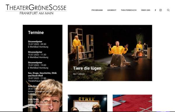 Vorschau von www.theatergruenesosse.de, Frankfurt / Main, TheaterGrueneSosse