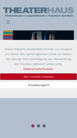 Vorschau der mobilen Webseite www.theaterhaus-frankfurt.de, Frankfurt / Main, Theaterhaus