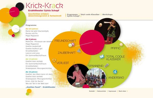 Vorschau von www.krickkrack-theater.de, Frankfurt/ Main, Krick-Krack-Theater