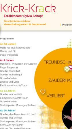 Vorschau der mobilen Webseite www.krickkrack-theater.de, Frankfurt/ Main, Krick-Krack-Theater