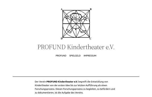 Vorschau von www.profund-kindertheater.de, Hamburg, Profund Kindertheater e.V.