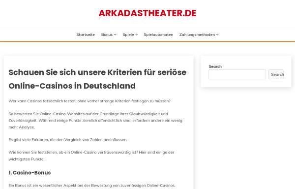 Vorschau von www.arkadastheater.de, Köln, Arkadas Theater