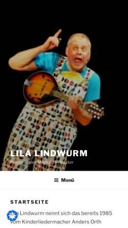 Vorschau der mobilen Webseite www.lilalindwurm.de, Mönchengladbach, Lila Lindwurm
