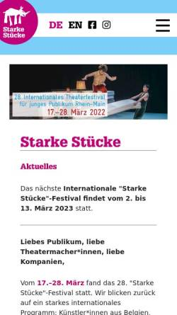 Vorschau der mobilen Webseite www.starke-stuecke.net, Starke Stücke Rhein-Main