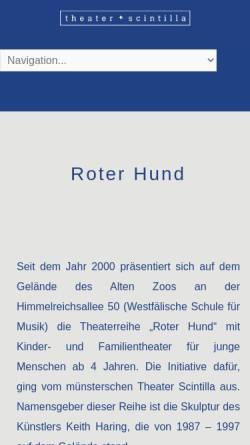 Vorschau der mobilen Webseite www.theater-scintilla.de, Theater Scintilla