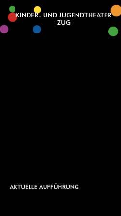 Vorschau der mobilen Webseite www.kindertheaterzug.ch, Zug (Schweiz), Kinder- und Jugendtheater Zug