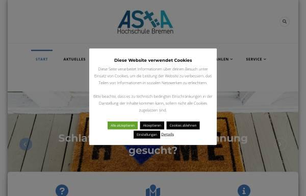Vorschau von www.asta-hsb.de, AStA der Hochschule Bremen