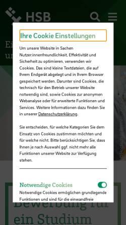 Vorschau der mobilen Webseite www.hs-bremen.de, Hochschule Bremen